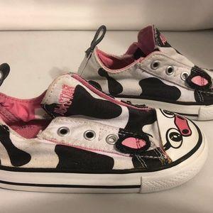 0bd7130157770a Converse Shoes - COW print converse girls size 8 So cute! RARE